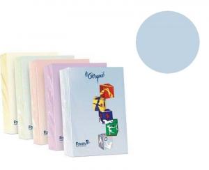 FAVINI Risma 500 Fogli 80 Grammi Formato A4 Colore Celeste Carta Da Fotocopie