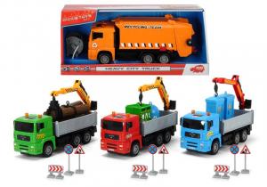 SIMBA Dickie camion modello assortito con parti mobili e accessori 20cm