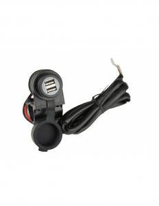 13-0180 PRESA DOPPIA USB AL MANUBRIO MOTOCICLI