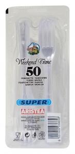 ARISTEA Forchette X 50 pz. trasp.art.793865 - Articoli per pic-nic