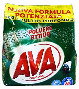 AVA Lavatrice Polvere 20 Mis. 1,3 KG. Detergenti Casa