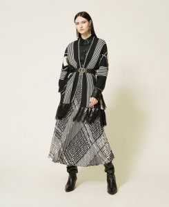 SHOPPING ON LINE TWINSET MILANO PONCHO REVERSIBILE NEW COLLECTION WOMEN'S FALL WINTER 2022