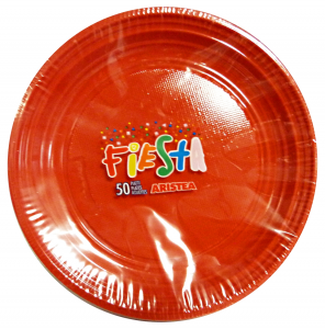ARISTEA Piatti color.dessert 50 pz. arancio art.155807 - Articoli per pic-nic