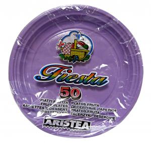 ARISTEA Piatti color.dessert 50 pz. glicine art.155808 - Articoli per pic-nic