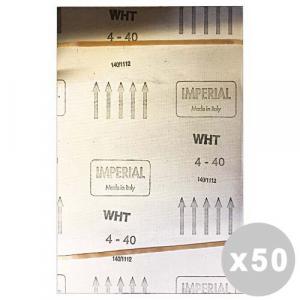 Set 50 Tela 4 resinata al corindone 40 gr. bianca 185x270 mm