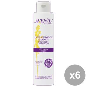 Set 6 AVENIL Viso Latte Detergente Latte-AVENA 250 Ml.  Cura del viso