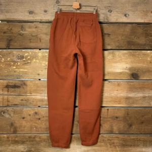 Pantalone Amish Supplies Jogger in Cotone Organico Coccio