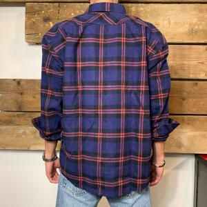 Camicia Amish Supplies Uomo Oversize in Flanella a Quadri Viola