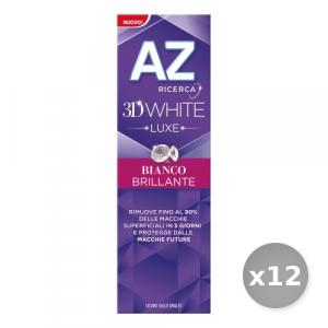 Set 12 AZ Dentifricio 3d Luxe Bianco Brillante 75 ml Prodotti per il Viso