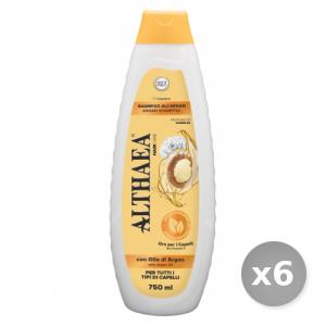 Set 6 ALTHAEA Shampo argan 750 ml prodotto per la cura dei capelli