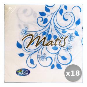 Set 18 SOFT FLOWER Soft Fiore Decorati 33x33 30 Pezzi Tovaglioli Accessori per la Tavola