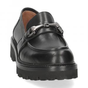 Il Laccio mocassino accessorio 3248 pelle nera-3