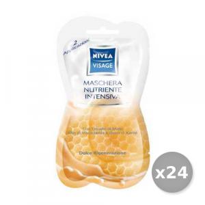 Set 24 NIVEA Maschera Nutriente Intensiva Monouso 15 ml 84723 Cura del viso
