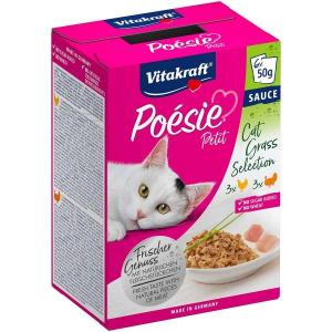 Vitakraft - Poésie Petit - Sauce - Multipack - 3 x 6 bustine da 50g