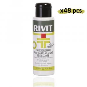 RIVIT Emulsione Mani Purificante Azione Igienizzante Gel 100ML Confezione da 48