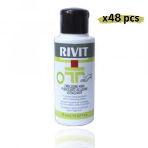 RIVIT Emulsione Mani Purificante Azione Igienizzante - Gel 75ML Confezione da 48