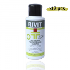 RIVIT Emulsione Mani Purificante Azione Igienizzante - Gel 75ML Confezione da 12