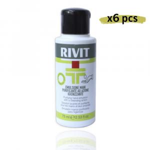 RIVIT Emulsione Mani Purificante Azione Igienizzante - Gel 75ML Confezione da 6