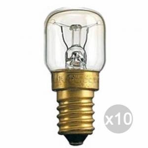 Set 10 AIRAM Lampada Forno Pera Chiara 15W E14 X2 240V Illuminazione Della Casa