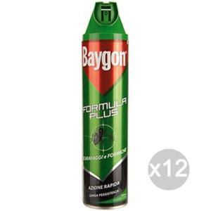 Set 12 BAYGON Verde Spray Scarafaggi Formiche Ml 400 Repellente Insetticida