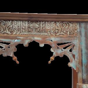 Mobile bar in legno di teak recuperato tipico indiano (vecchi portali, vecchie finestre)