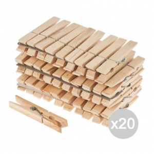 Set 20 Molle Pinza Legno X 24 Cm 9 Bucato Detersivo Lavatrice E Bucato