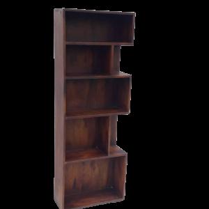 Libreria in legno di palissandro indiano finitura marrone rossiccia