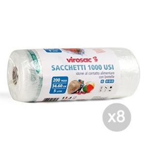 Set 8 VIROSAC Borsette Shopper Hd.Rot 21X60 X200 Trasparente Viro