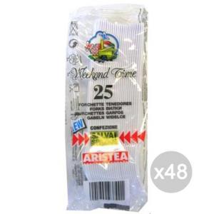 Set 48 ARISTEA 25 Forchette Posate 793800 In Plastica Per Picnic