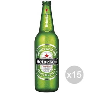 Set 15 HEINEKEN Birra Bottiglia 66Cl Bevanda Alcolica