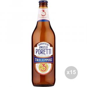 Set 15 PORETTI Birra 3 luppoli 66cl bevanda alcolica da tavola