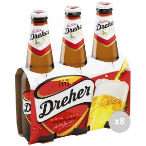 Set 8 DREHER Birra in bottiglia 33x3 vetro bevanda alcolica da tavola