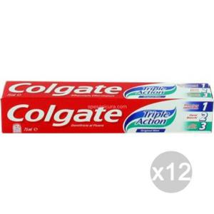 Set 12 COLGATE Dentifricio Triple Action Ml 75 Igiene E Cura Dei Denti