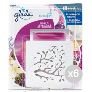 Set 6 GLADE Deodorante Discreet Base Elettrico Confezione Mista Profumazione