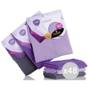 Set 48 CLENDY Panno Microfibra Soft Morbido 40X60 201095 Attrezzo Pulizia Della Casa