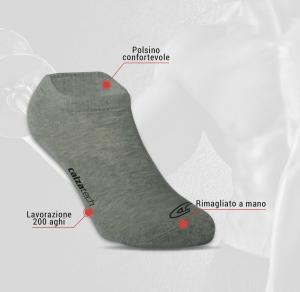 6 Paia di calzini unisex corti sotto alla caviglia in cotone FASHION TRADE