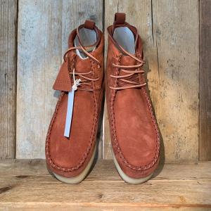 Stivaletto Clarks Wallabee Craft Rust Nubuck