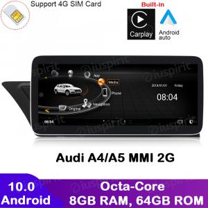 ANDROID navigatore per Audi A4 Audi A5 2008-2016 MMI 2G 10.25 pollici CarPlay Android Auto GPS WI-FI Bluetooth 8GB RAM 64GB Octa-Core 4G LTE