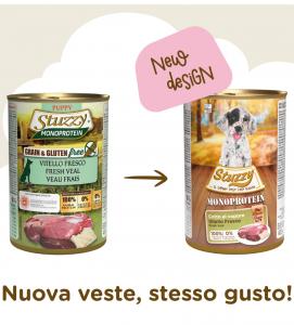 Stuzzy Dog - Monoprotein - Puppy - Vitello - 400g x 6 lattine