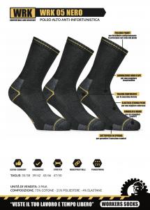 6 Paia di calzini per scarpa antinfortunistica da lavoro WRK