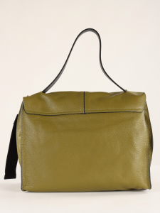 Cartella Clio in pelle bottalata verde REBELLE