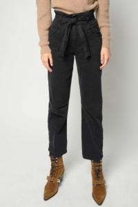 Jeans Carla 2 carrot-fit nero con cintura Pinko