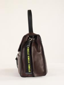 Cartella Clio in pelle bottalata marrone scuro REBELLE
