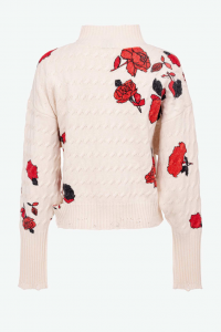 SHOPPING ON LINE PINKO PULLOVER STAMPA ROSE NINFEO NEW COLLECTION WOMEN'S FALL/WINTER 2022