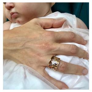 LE BEBè - I Divini Anello a Fascia Maschietto Oro Rosa Misura 15