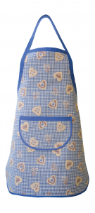 Grembiule, pettorina in Stile Tirolese Galtex Style collezione St. Moritz Blu misure 70x80