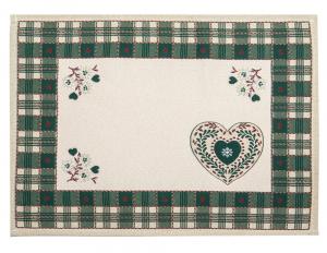Centro Tavola in Stile Tirolese Galtex Style collezione Val Badia Verde misure 35x45