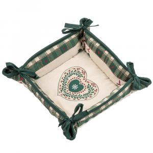 Cestino Portapane Tirolese Galtex Style collezione Val Badia Verde misure 20x20x7,5