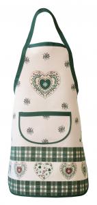 Grembiule, pettorina in Stile Tirolese Galtex Style collezione Val Badia Verde misure 70x80