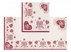 Tovaglia Copritavola Tirolese Galtex Style collezione Val di Fassa Rosso